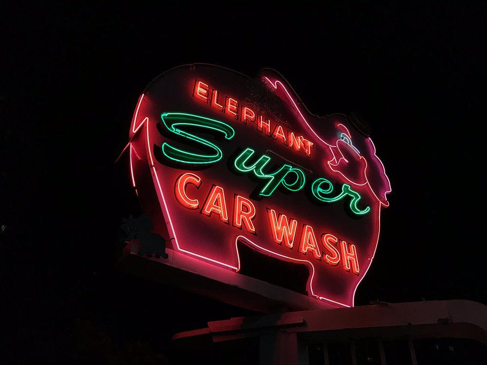 Elephant Super Car Wash, Seattle USA © Tanya Clarke 2018