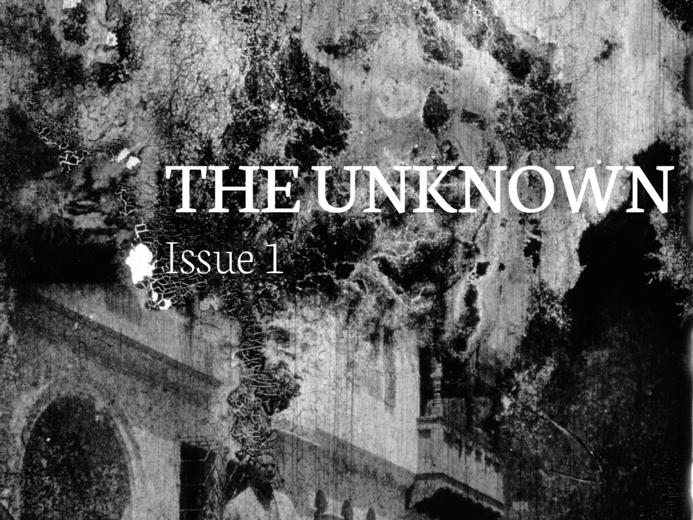 The Unknown    Issue 1, Volume 1  Featuring essays by Dan McFadden, Gabrielle Marceau, Liam Rodrigues, and Sam Reimer.