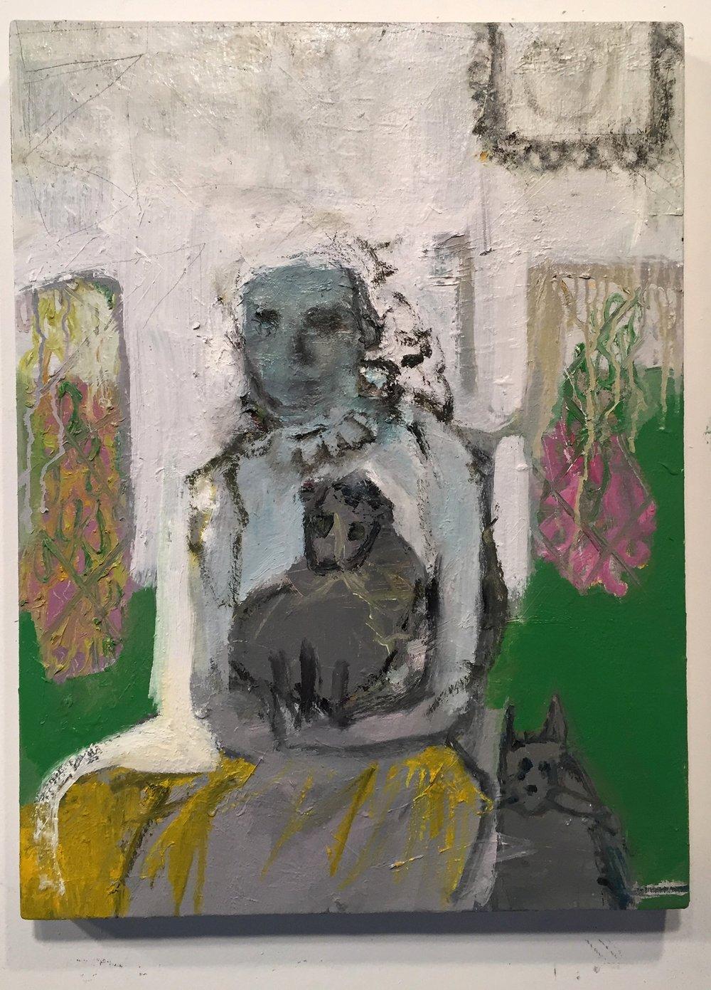 family portrait, 2018 oil on canvas 24x18