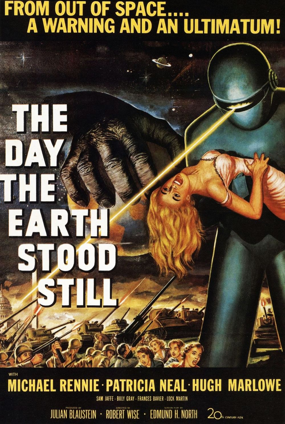 Michael Rennie was ill the day the earth stood still. But he told us where we stand.