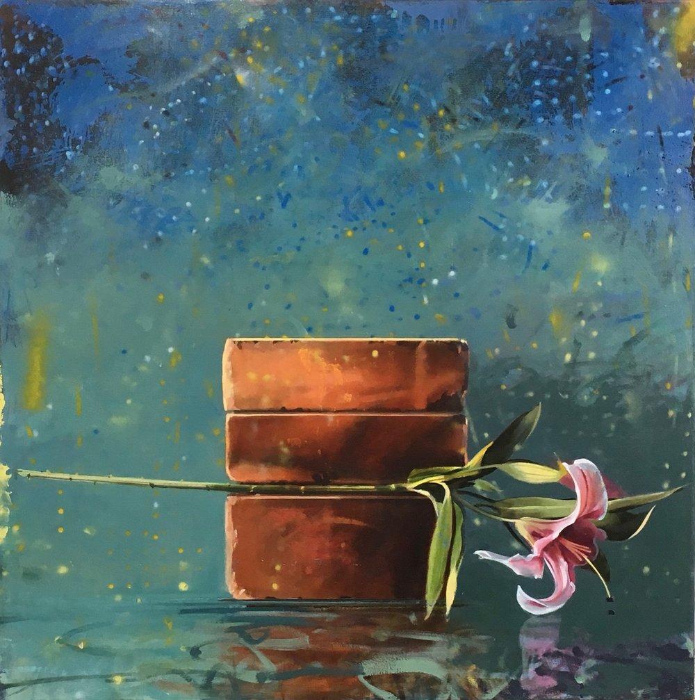 Nightfall , Gallery Arlo  40 x 40, oil on canvas