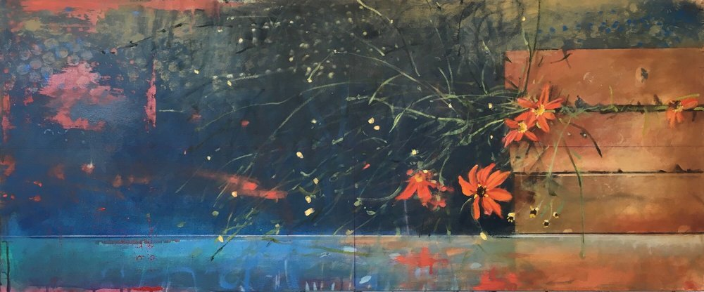 Night Dance,  sold  23 x 55, oil on canvas