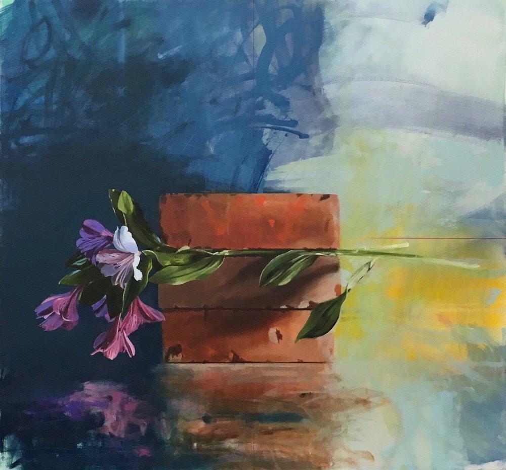 Solitary,  Globe Fine Art  40 x 43, oil on canvas