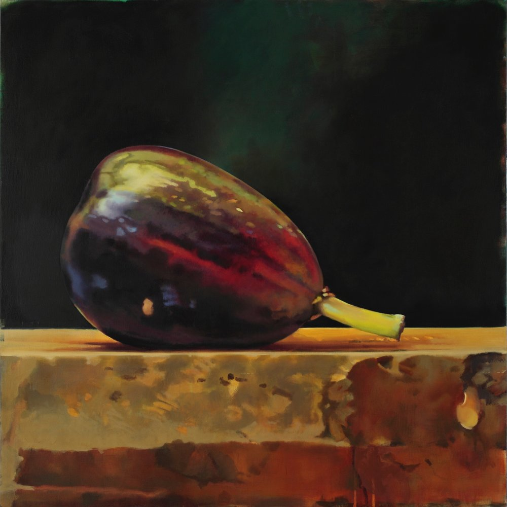 Fig,  Collection Four Seasons Denver  55 x 55, oil on canvas