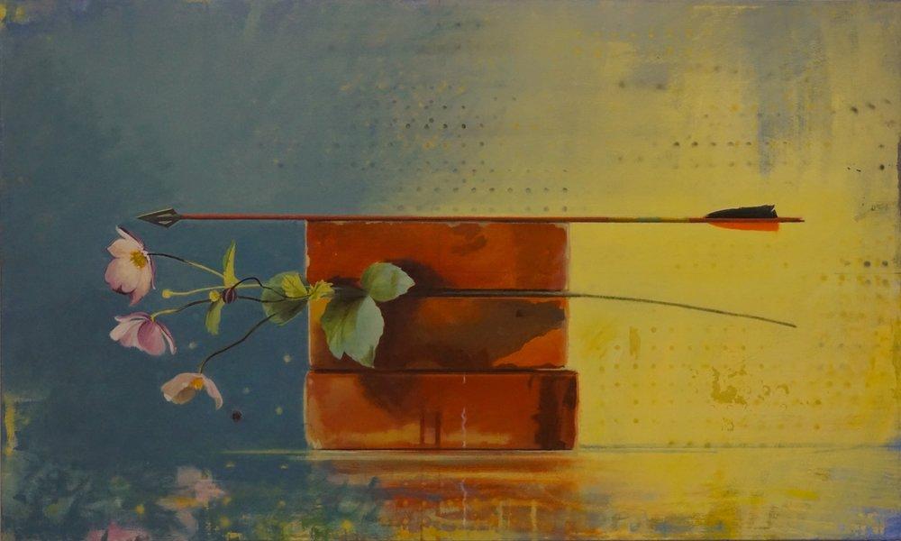 Chloe's Garden,  sold  30 x 50, oil on canvas