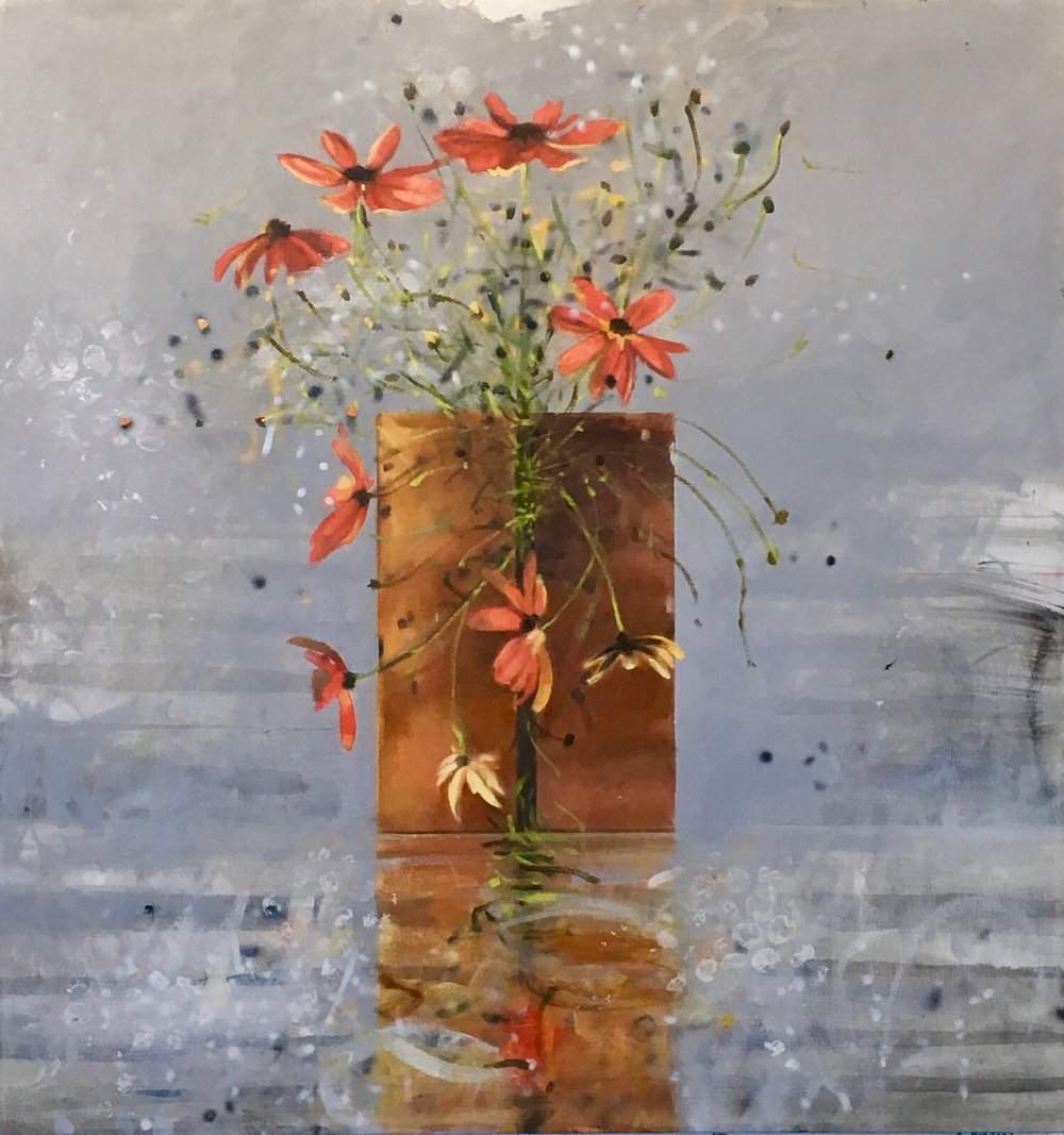Joy,  sold  37 x 35, oil on canvas