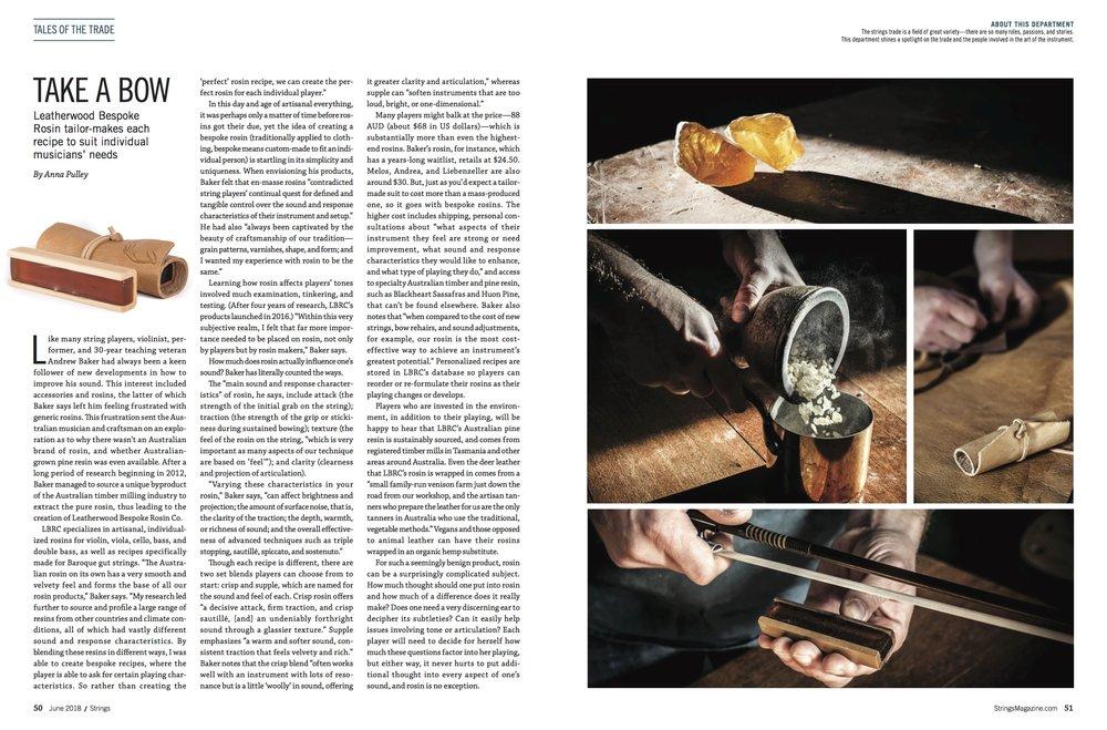 Strings Magazine, May 2018