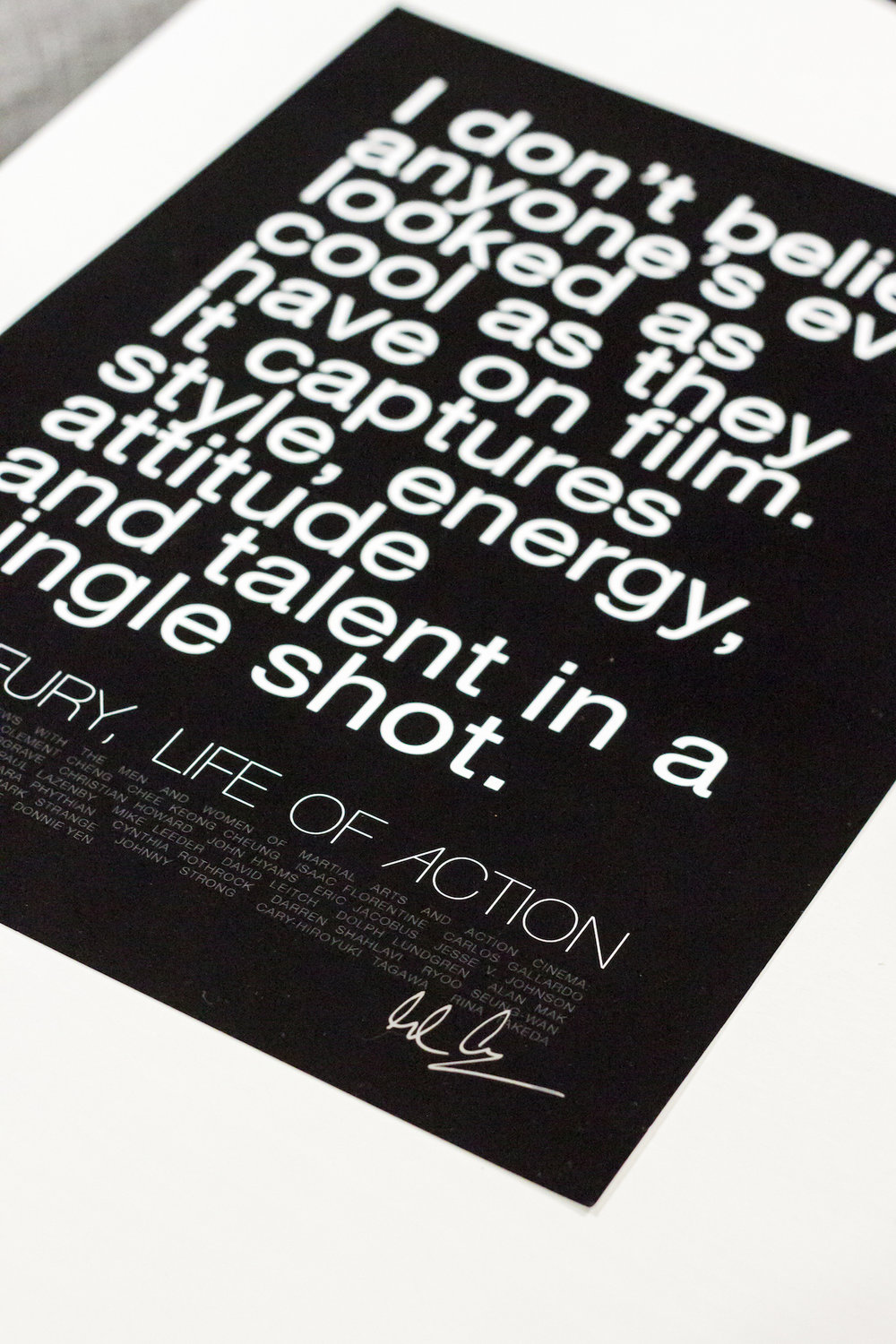 Action movie quote poster print | Life of Action by Mike Fury