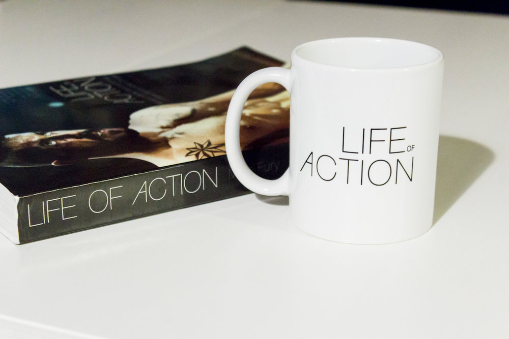 Mug gift for action movie fans | Life of Action by Mike Fury