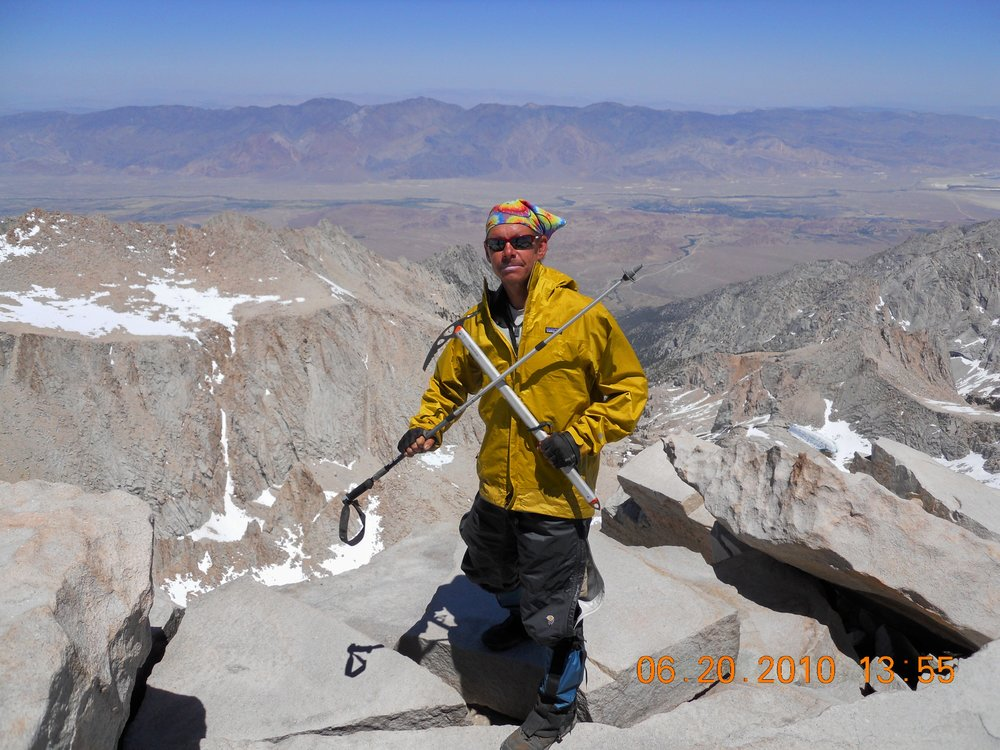 Mount Whitney elevation 14,505 ft, 2010