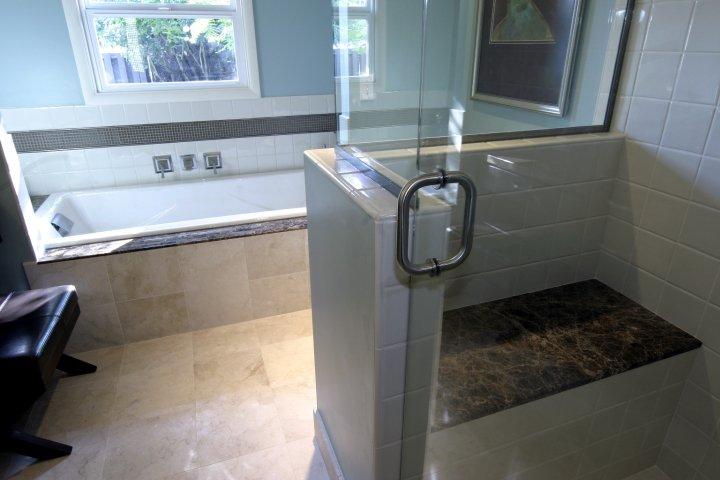 Bath Remodel Soaker Tub & Shower
