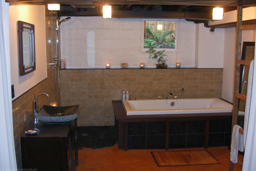 Basement Bath Oasis