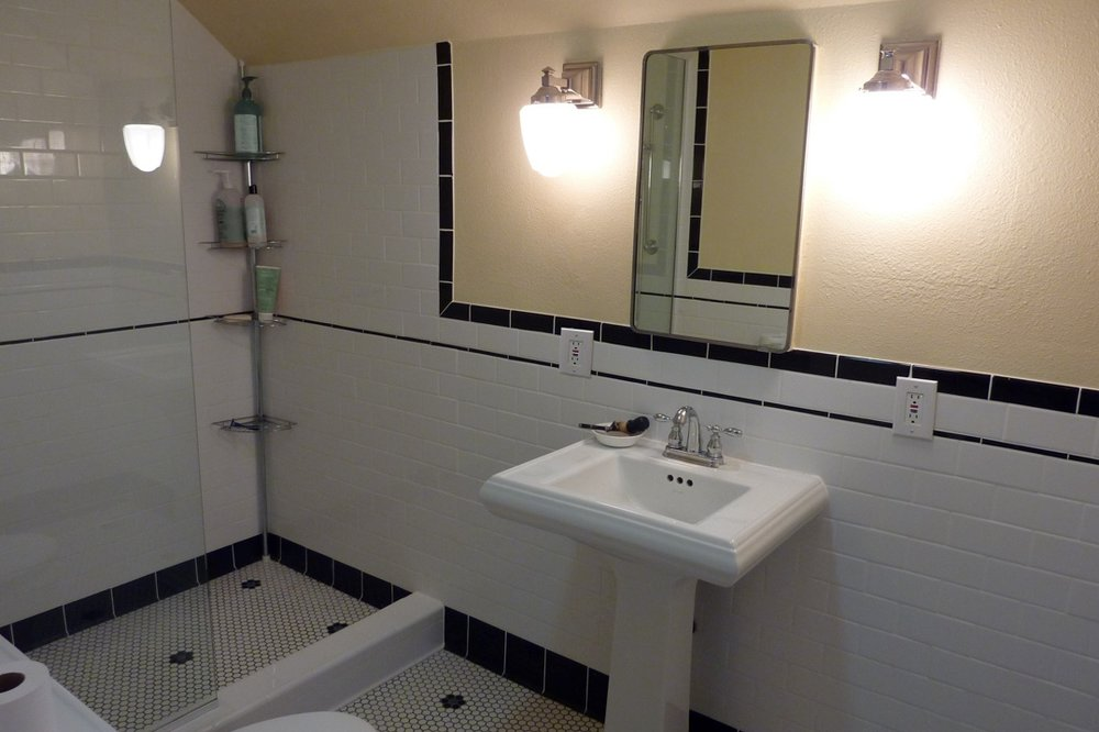 Custom Bath Remodel Shower & Pedestal Sink