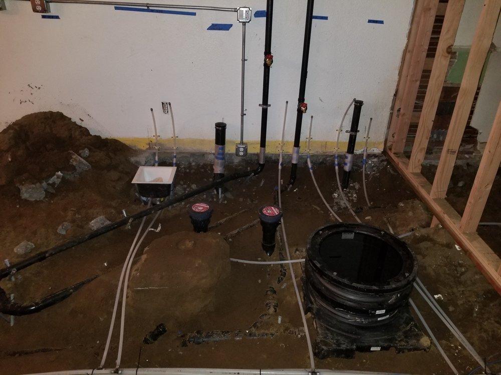 Plumbing ground work grease interceptor cafe coffee shop
