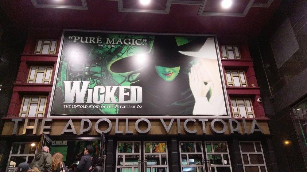 Apollo Victoria Theatre - visited 07/01/2019