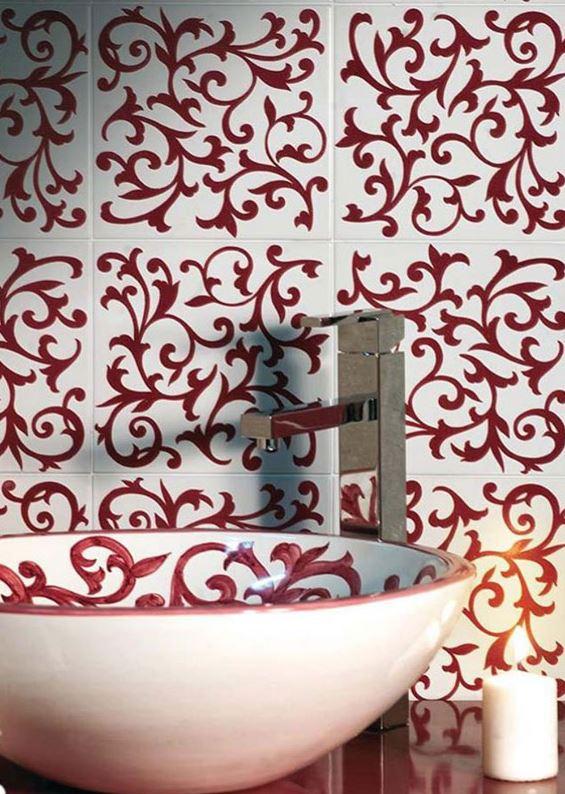 Ceramica Francesco de Maio handbemalte Muster Badezimmer orientalisch mediteran Italien.JPG