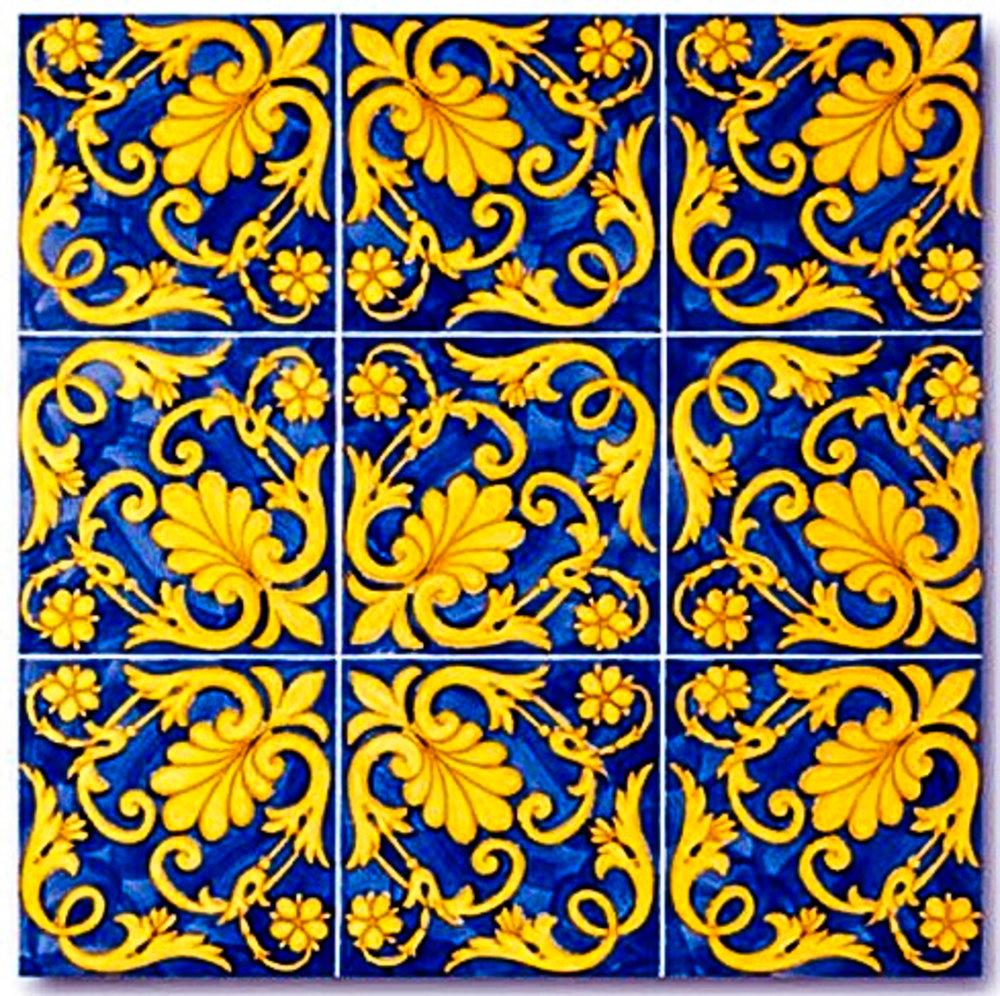 Ceramica Francesco de Maio-Serie Antichi Decori Ieranto 20 x 20 cm handbemahlt.jpg