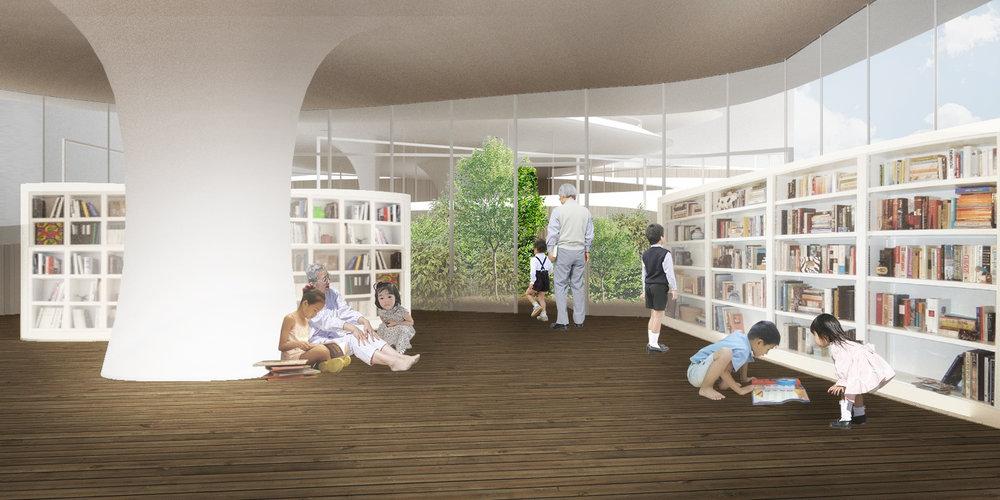 C : Garden area for the elderly