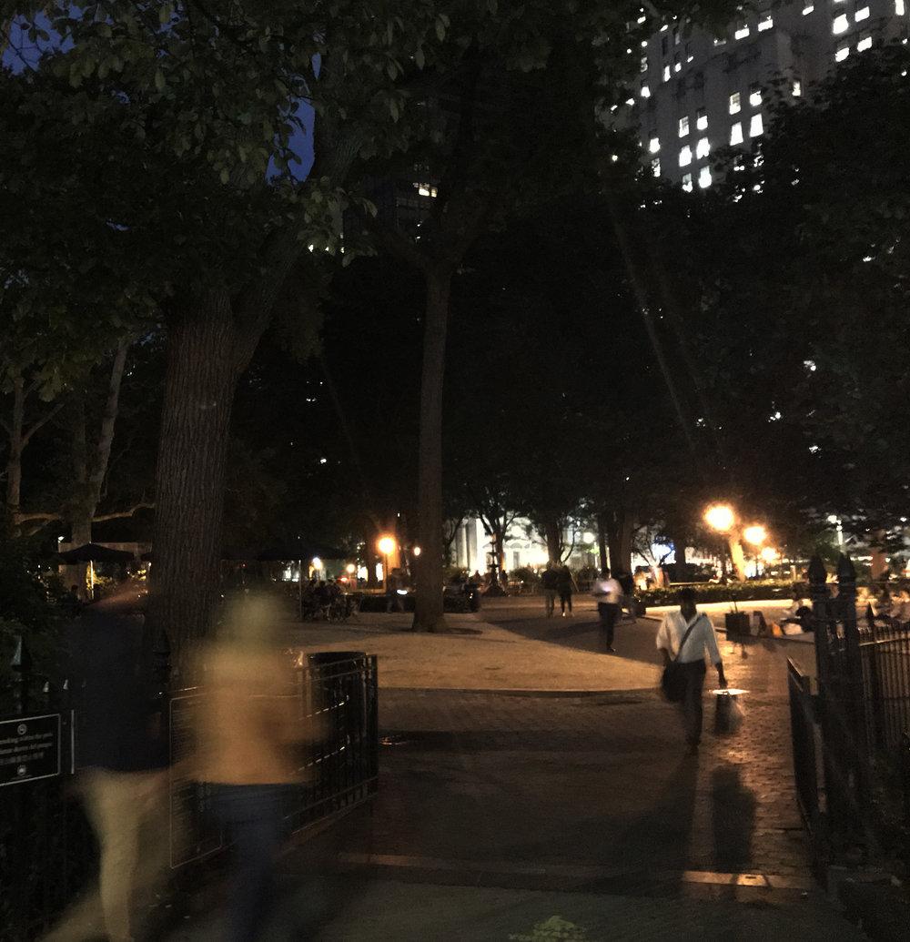 Madison Square Park at night