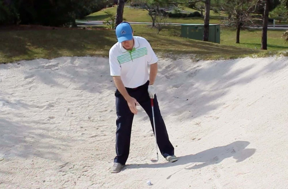 Uphill Bunker Shot Ball Position