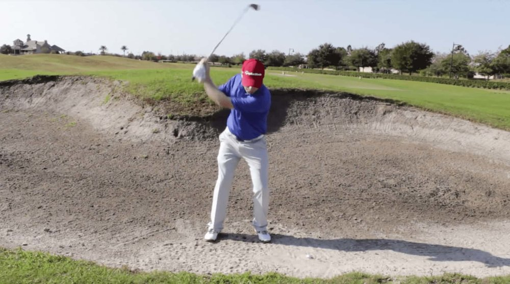 Plugged Bunker Shot - Backswing