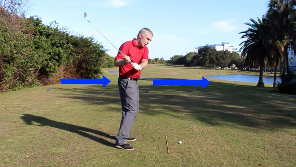 shanking golf ball