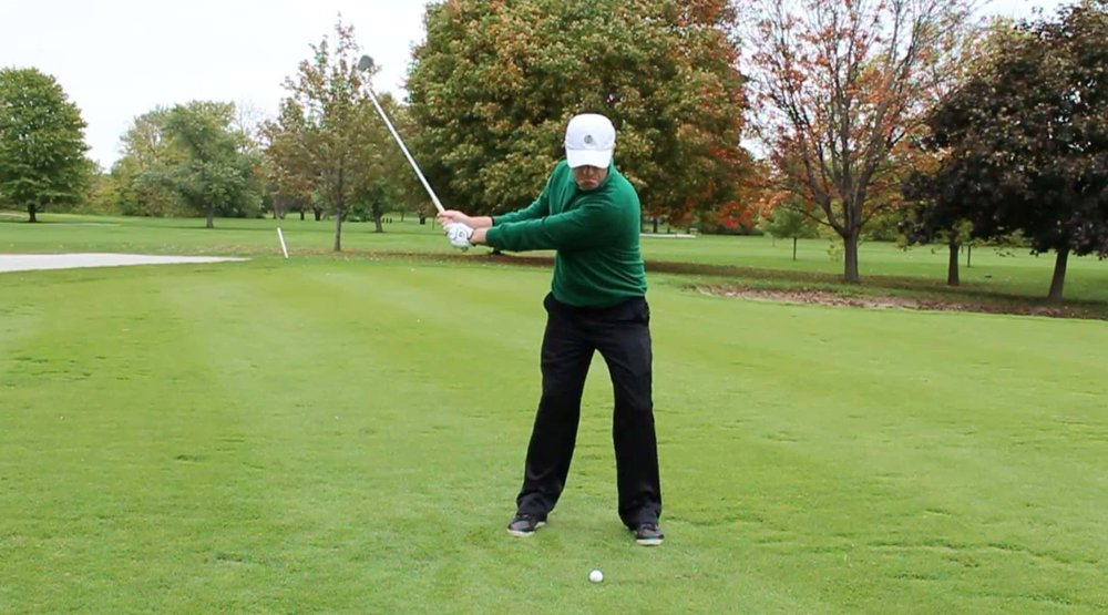 left arm straight golf swing