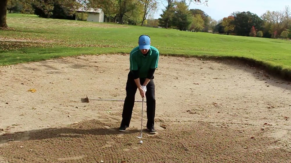 How to hit a bunker shot high