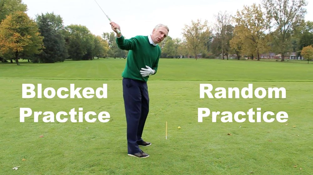 Blocked Practice and Random Practice are great driving range practice tips.