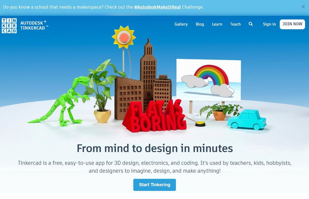 1. Go to tinkercad.com - Click Start TinkeringCreate a new account-it's free and safe for kids