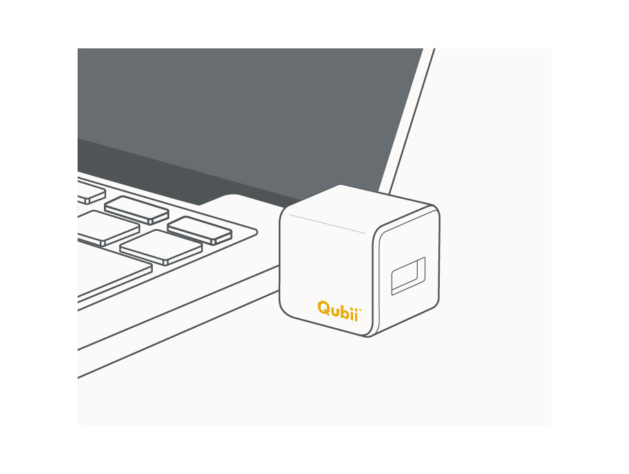 カードリーダーとしても使用可! - Qubiiをパソコンに接続すれば、microSDカードリーダーとしても利用できます。保存した写真をPCやTVに繋いで大画面で鑑賞するのもQubiiの活用法の一つ。もちろんGoProやドライブレコーダーで録画した映像も大画面で楽しめます。