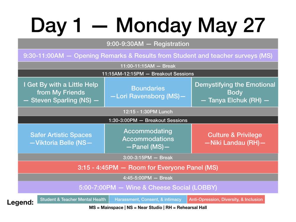 Day 1 Schedule