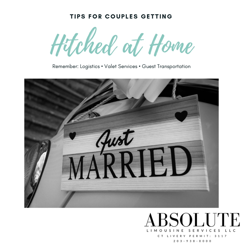 Transportation tips for couples getting married at home