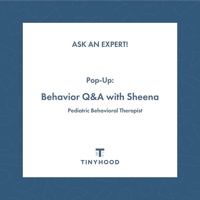 This week's Q+A topic: Behavior⠀⠀⠀⠀⠀⠀⠀⠀⠀ ⠀⠀⠀⠀⠀⠀⠀⠀⠀ Our Tinyhood Pediatric Behavior Expert, Sheena, joins us this week to answer your behavior questions. Get clarity on everything from positive discipline tactics to tantrums, and more! Comment below or DM us your questions and we will share responses from Sheena. #expertQA ⠀⠀⠀⠀⠀⠀⠀⠀⠀ ⠀⠀⠀⠀⠀⠀⠀⠀⠀ #dailyparenting #uniteinmotherhood #mommyproblems #motherhoodunplugged #motherhood #mommylife #parentinglikewhoa #parenting #parenthood #parents #mother #mothermag #honestmotherhood #mommylife #momlife #parentlife #millenialmom #honestparenting #modernmom #positivediscipline #toddlermeltdown #tantrum #tips #expertqa