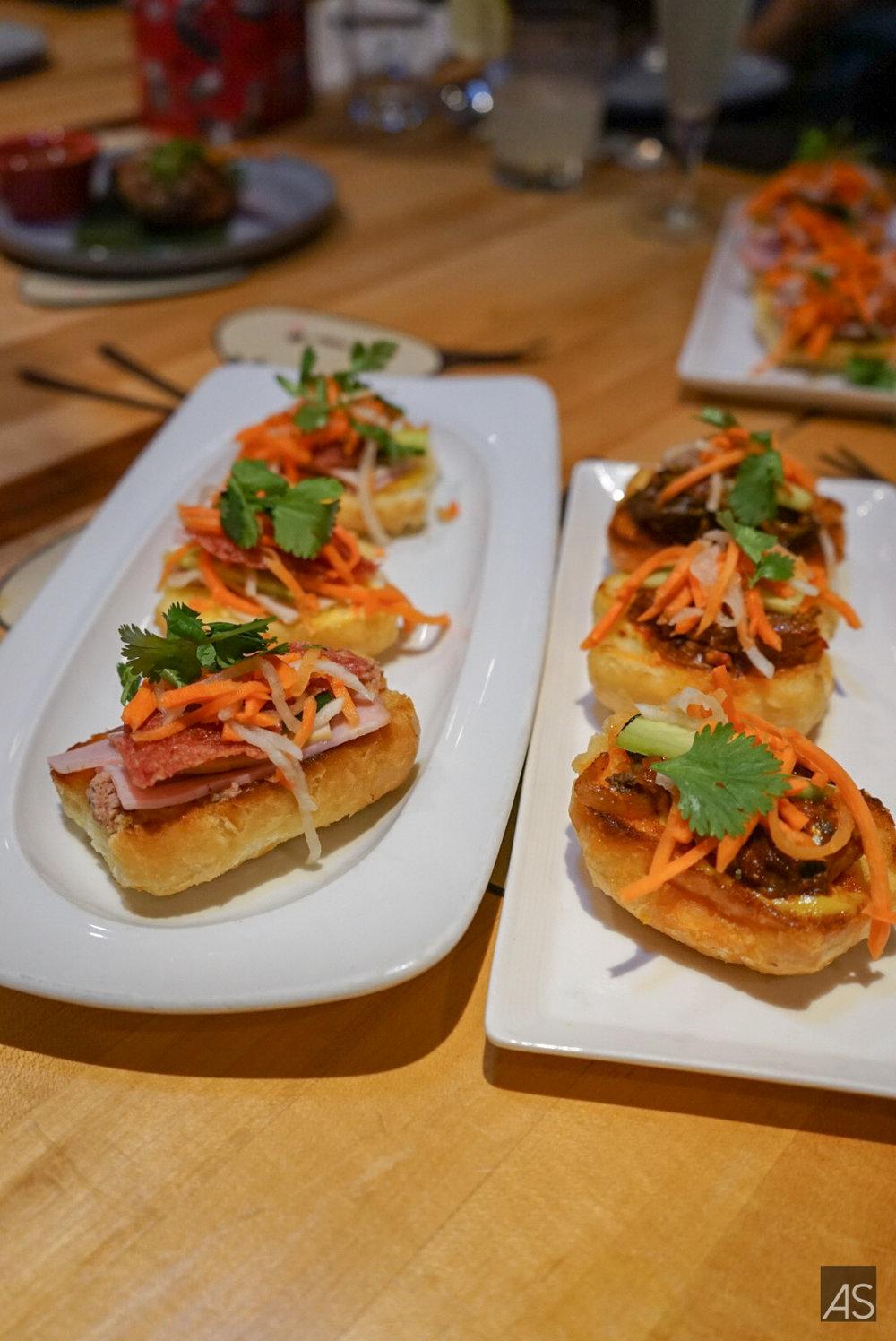 Banh Mi Dac Biet | Ham | Viet Mortadella | smoke salami | Pate| house mayo | pickled daikon & carrot  Banh Mi Ca| Sardines stewed in tomato sauce | onions | house mayo | pickled daikon & carrot
