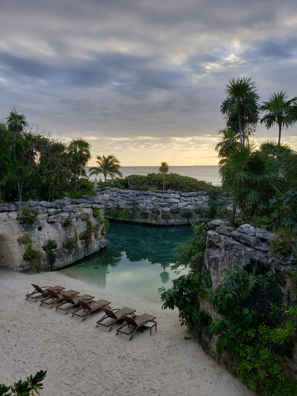 Lagoon at Hotel Xcaret