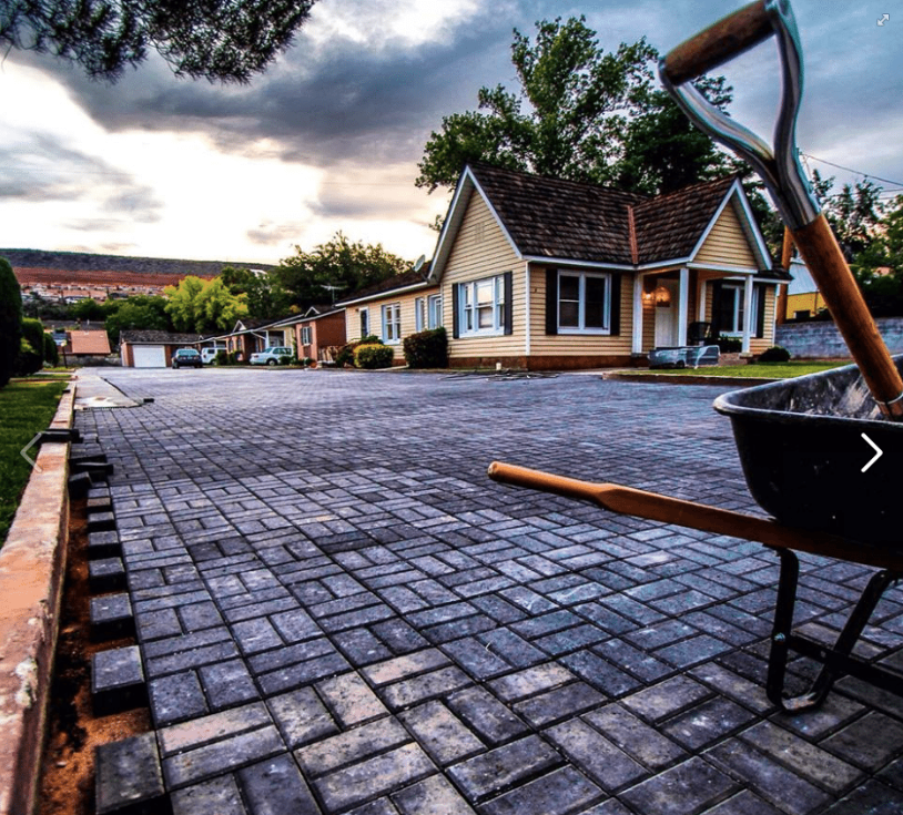 Brick pavers installed by Kelsch construction
