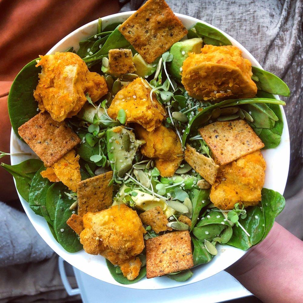 Buffalo Cauliflower - Vegan, Gluten-Free, Dairy-Free