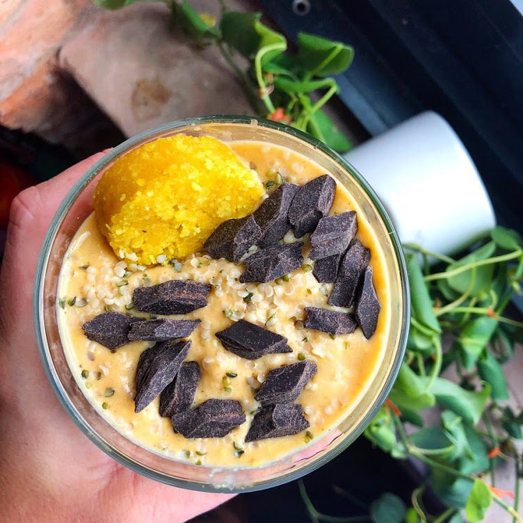Golden Pumpkin Smoothie - Vegan, Gluten-Free