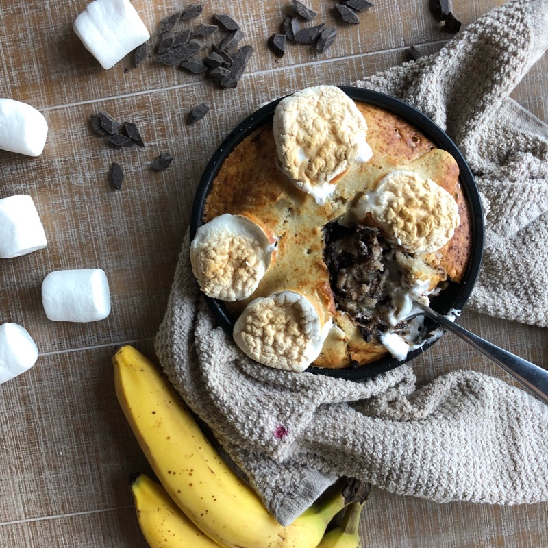 Itty Bitty S'mores Skillet - Dairy-Free, Vegetarian, Vegan (optional), Gluten-Free,Quick Recipes, Easy Bake