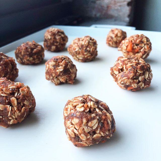 No Bake Carrot-Ginger Balls - Dairy-Free, Easy Recipe, Gluten-Free