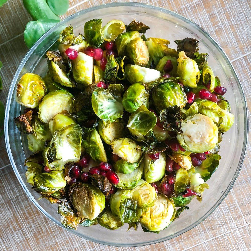 Crispy Brussels Sprouts - Vegan, Gluten-Free, Easy Recipes, Paleo, Keto