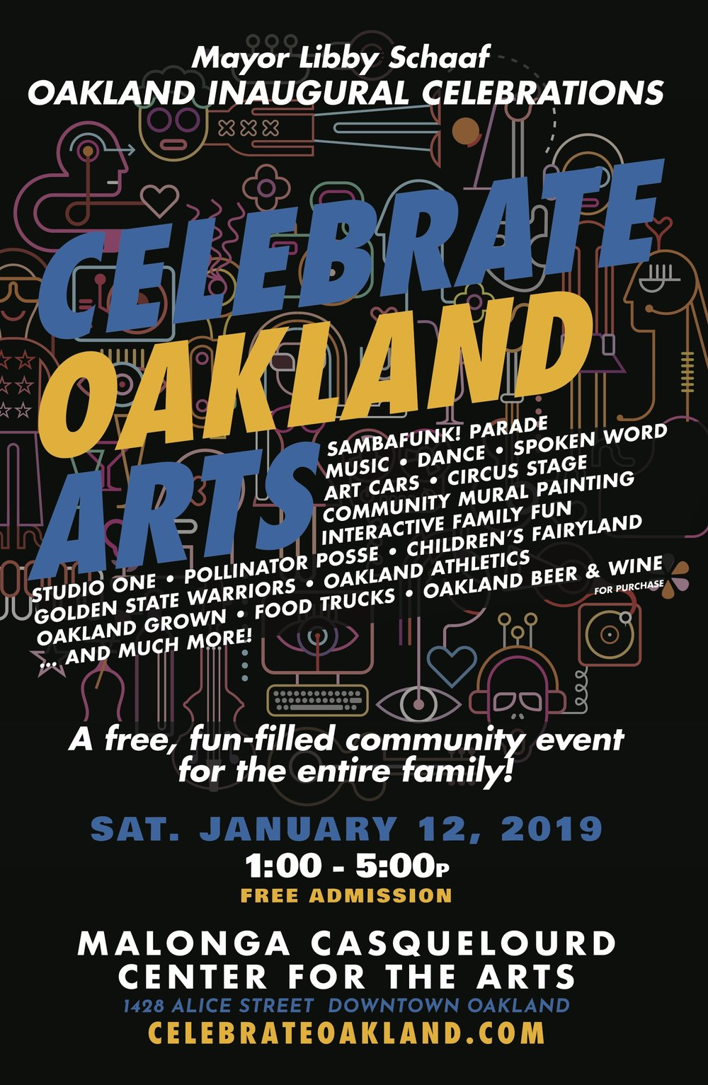 2019_Inauguration January 12 Celebrate Oakland arts - 11 x 17 poster - final to ps print.jpg