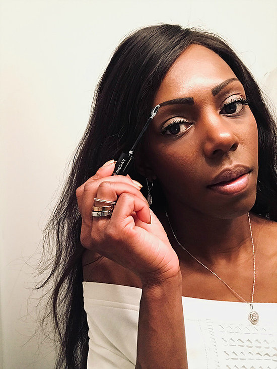 """Lancôme's """"Sourcils Styler"""" eyebrow gel  in Transparent keeps my brows in check for a long lasting hold. The transparent color looks white when first applied, so I gently tap my brows to blend it in, then I'm all set!"""