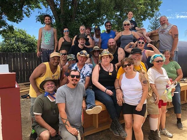 Here's to the dreamers, builders and doers! 2018 brought many new connections for life while building the great train wreck with our friends in Reno! #thegreattrainwreck #sacramentocrew #burningman2018