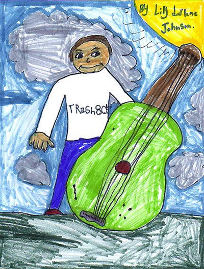 While at first glance this doesn't appear to be a 12-string bass, Lily Johnson did a great job capturing her dad's 12 - and won a contest in the process!