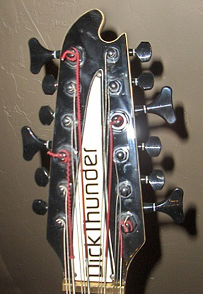 The modified headstock.
