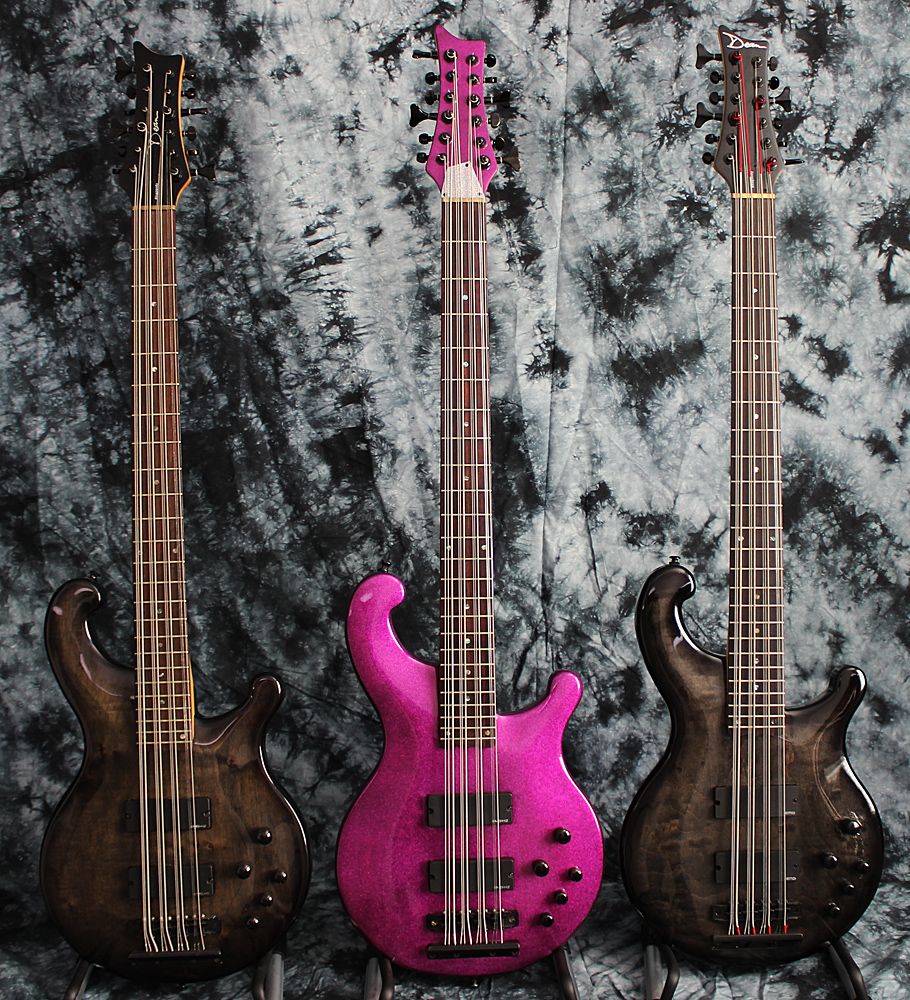 The fuchsia color really helps this bass stand out from crowd of transparent black Dean 12's.