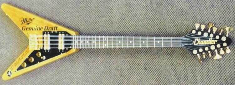 The first Chandler 12-string bass, built for Allen Woody.