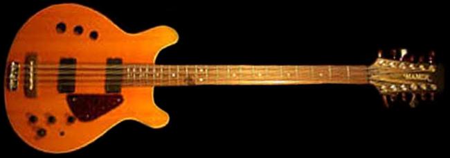 "1995 Jeff Ament Custom Hamer ""Acoustic Electric"" Natural Finish 12-String Bass"